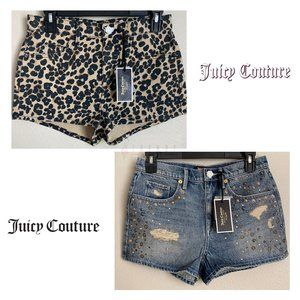 NWT Women Lot of 2 Juicy Couture Shorts - Size 27